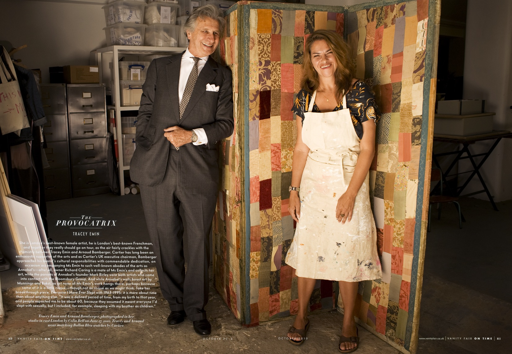 Tracey Emin and Arnaud Bamberger, for Vanity Fair UK
